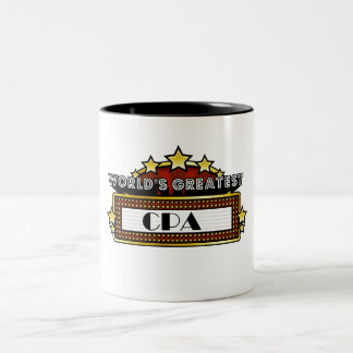 World's Greatest CPA Two-Tone Mug