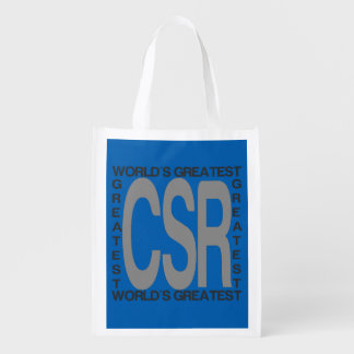 Worlds Greatest CSR Reusable Grocery Bag
