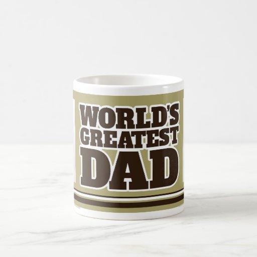 World's Greatest Dad 2 photos Army green beige mug