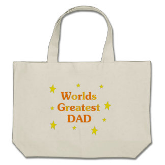 Worlds Greatest Dad Canvas Bags