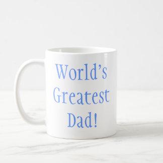 World's Greatest Dad! Basic White Mug