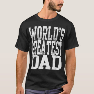 World's Greatest Dad, Big Block Letters Dark Shirt