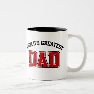 Worlds Greatest Dad Coffee Mug Red