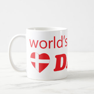 WORLDS GREATEST DAD DENMARK HEART FLAG COFFEE MUG
