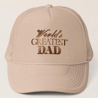 World's Greatest Dad Elegant Chic Gold Typography Trucker Hat