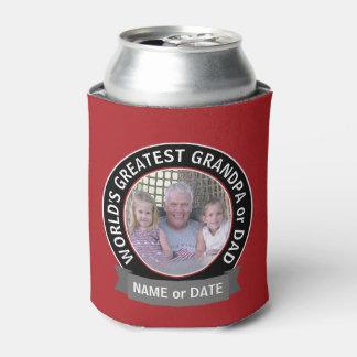 World's Greatest Dad Grandpa Photo red black