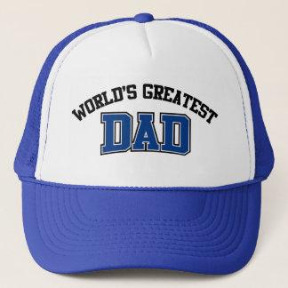 Worlds Greatest Dad Hat Blue