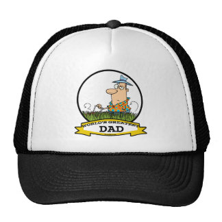 WORLDS GREATEST DAD MEN CARTOON TRUCKER HATS