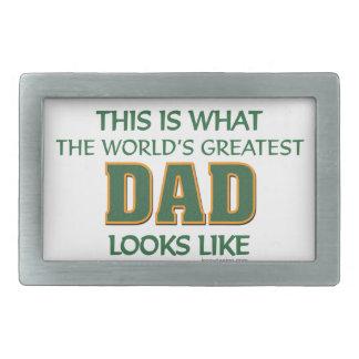 World's Greatest Dad Rectangular Belt Buckle