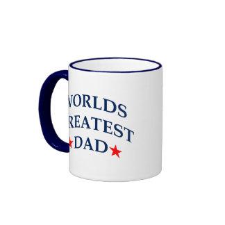 Worlds Greatest Dad Ringer Mug
