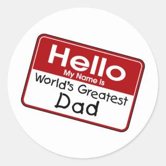 World's Greatest Dad Round Sticker