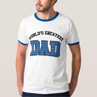 Worlds Greatest Dad Shirt Plaid