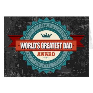 World's Greatest Dad Vintage Card
