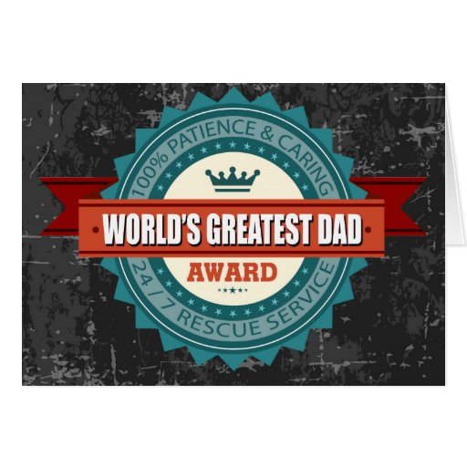 World's Greatest Dad Vintage Greeting Card