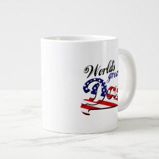 World's greatest dad with American flag Jumbo Mug