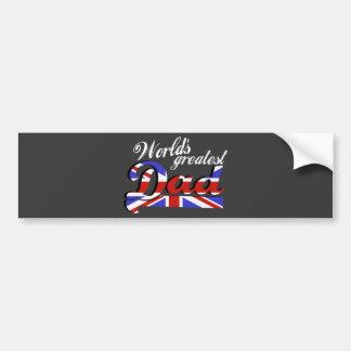 World's greatest dad with British flag - dark Bumper Sticker