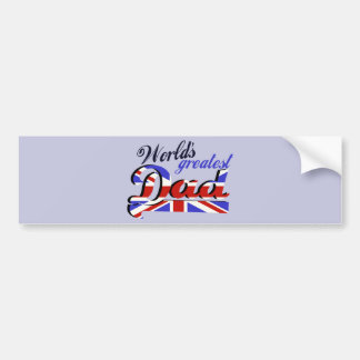 World's Greatest Dad with English flag Bumper Stickers
