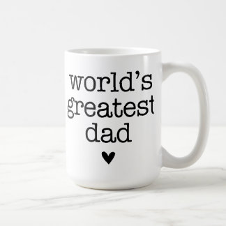 World's Greatest Dad with Heart Father's Day Coffee Mug