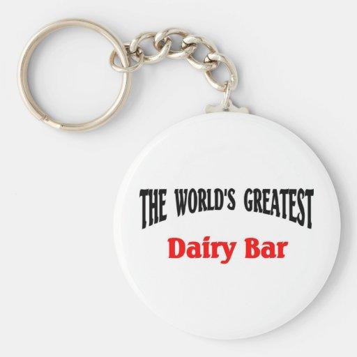 world's Greatest Dairy Bar Keychain
