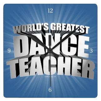 World's Greatest Dance Teacher Clock