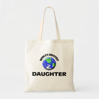 World's Greatest Daughter Canvas Bags