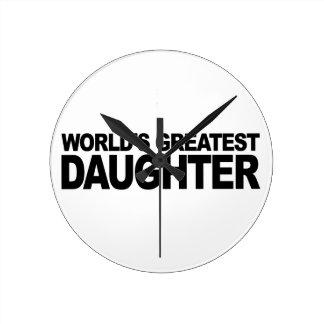 World's Greatest Daughter Wallclock