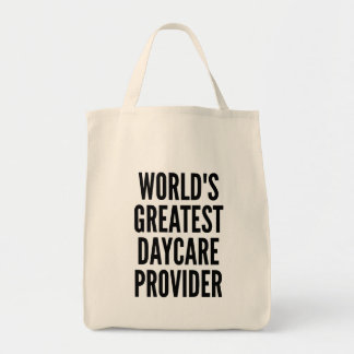 Worlds Greatest Daycare Provider Grocery Tote Bag