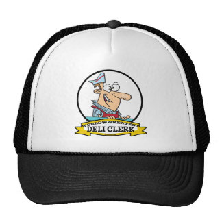 WORLDS GREATEST DELI CLERK MEN CARTOON CAP