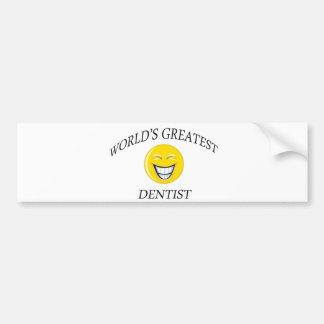 World's Greatest Dentist Bumper Stickers