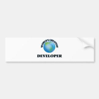 World's Greatest Developer Bumper Stickers