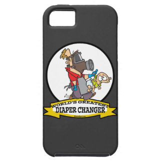 WORLDS GREATEST DIAPER CHANGER DAD CARTOON iPhone 5 COVER
