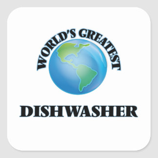 World's Greatest Dishwasher Square Sticker