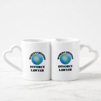 World's Greatest Divorce Lawyer Lovers Mug Set