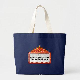 World's Greatest Docketing Clerk Large Tote Bag