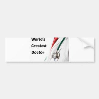 World's Greatest Doctor Design Bumper Sticker