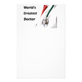 World's Greatest Doctor Design Custom Stationery