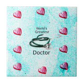 World's Greatest Doctor Professions Collection Ceramic Tile