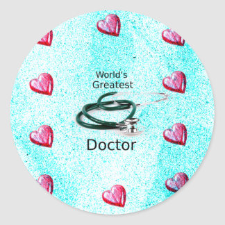 World's Greatest Doctor Professions Collection Classic Round Sticker