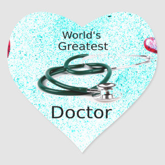 World's Greatest Doctor Professions Collection Heart Sticker