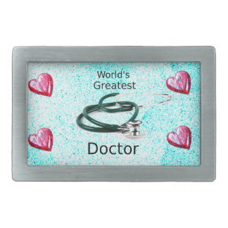 World's Greatest Doctor Professions Collection Rectangular Belt Buckle