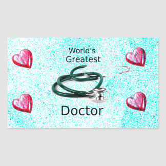 World's Greatest Doctor Professions Collection Rectangular Sticker