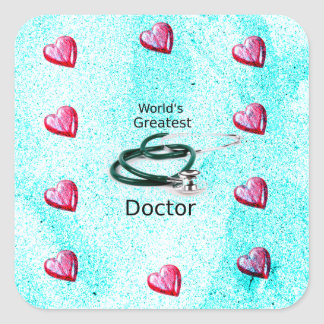 World's Greatest Doctor Professions Collection Square Sticker