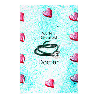 World's Greatest Doctor Professions Collection Stationery