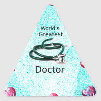 World's Greatest Doctor Professions Collection Triangle Sticker