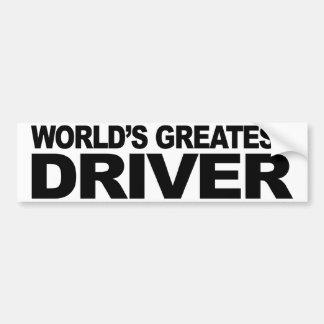 World's Greatest Driver Bumper Sticker