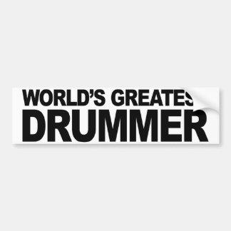 World's Greatest Drummer Bumper Sticker