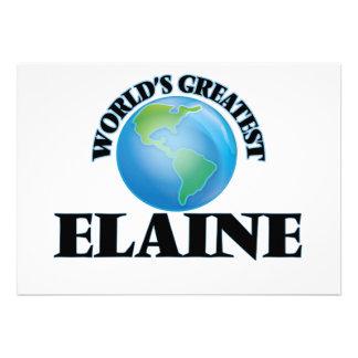 World's Greatest Elaine Custom Invite