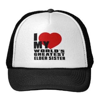 WORLD'S GREATEST ELDER SISTER CAP