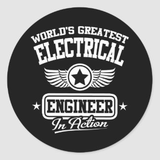 World's Greatest Electrical Engineer In Action Classic Round Sticker