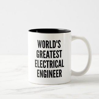 Worlds Greatest Electrical Engineer Two-Tone Coffee Mug